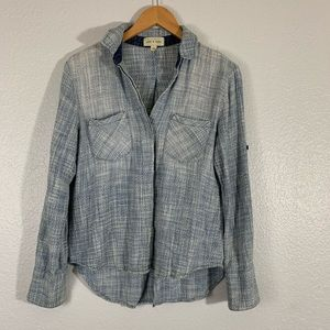 Cloth And Stone | Distressed Chambray Button Down
